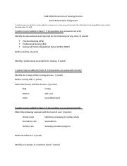 Dimensions of Nursing Practice Exam Remediation.docx