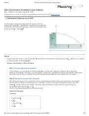 OA2_ 2-D Kinematics and Newton's Laws of Motion