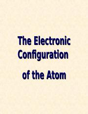 7- the electronic configuration