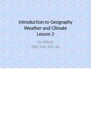 Lesson 2 Weather and Climate