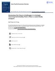 Assessing the future challenges in strategic sourcing commodity from China a case study analysis.pdf