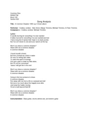 Song Analysis doc