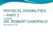 physical disabilities 2-intro lecture and endocrine overview