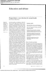 Lecture 2 - Braken, P.  Thomas, P. (2001). Postpsychiatry- A new direction for mental health