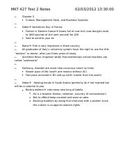 MKT 427 Test 2 Notes