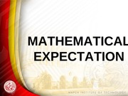 L10 Mathematical Expectation