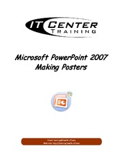 Creating a poster using Powerpoint 2007