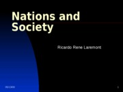 Lecture 3- Nations and Society