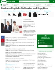 Business English - Dialogue - Deliveries and Suppliers.pdf