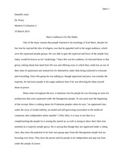 Essay - Marx Influence