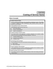 costing of service sector