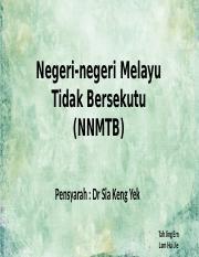 Negeri Negeri Melayu Tidak Bersekutu Pptx Negeri Negeri Melayu Tidak Bersekutu Nnmtb Pensyarah Dr Sia Keng Yek Tah Jing Ern Lam Hui Jie Pengenalan Course Hero