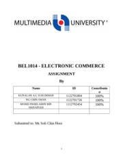 E-commerce assignment