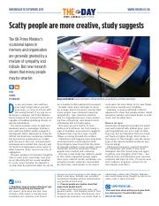 1898 Scatty people are more creative, study suggests