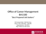 Career Management Presentation