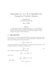 Eigenvalues on Manifolds with Nonnegative Curvature Operator