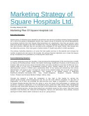 Marketing Strategy of Square Hospitals Ltd.docx