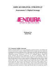 Assessment 3 -DIGITAL STRATEGY