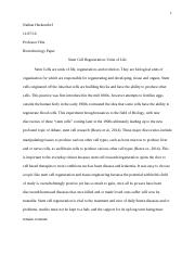 Biotechnology Paper