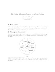 The Notion of Business Strategy Notes