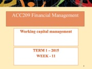 Week 11- Working capital management