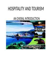 HOSPITALITY AND TOURISM OVERVIEW