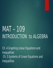 MAT109 Introduction to Algebra Live Chat 7.ppt