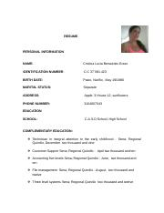 RESUME in english icontec ntc 4228 del 97 - Cristina Benavides.docx