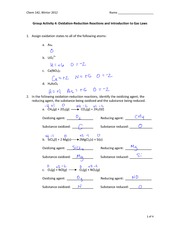 Worksheet 4 Key