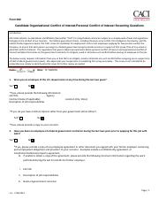 382 - Candidate Organizational Conflict of Interest_Personal Conflict of Interest Screening Question