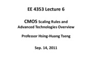 EE4353_Lecture_6_CMOS_Scaling