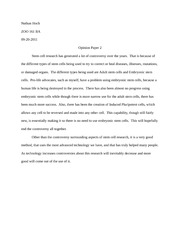 ZOO 161 Opinion Paper 2