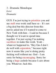 3.0 - Dramatic Monologue – Love.docx