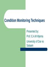Safety Topic 7 Condition Monitoring.ppt