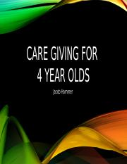 Care giving for