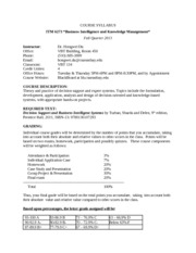ITM 6273 Syllabus Fall_2013