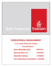 Operations management in Emirates Airlines.docx