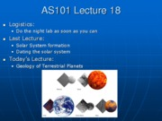 AS101 Lecture 18
