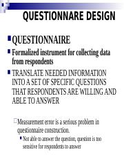 5. Questionnaire Design Updated February 10, 2015(1).ppt