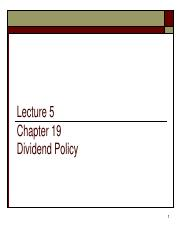 L5_Chp19_Dividend_policy