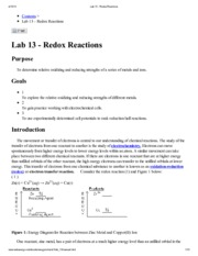 Lab 13 - Redox Reactions