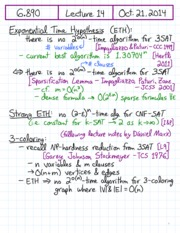 exponential time review