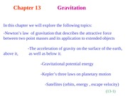 HR13 Chapter 13 Gravitation