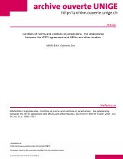 Conflict of Norms and Conflict of Jurisdiction MEA&WTO.pdf