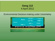 Geog 112_4april_Uncertainty