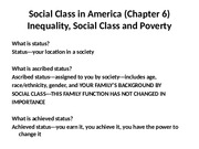 sixth installment.inequality.social class.poverty