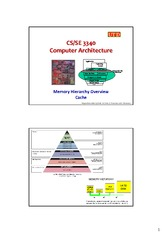 17 - Memory Hierarchy Overview