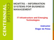 Class 5 - IT Infrastructure and Emerging Technologies W15