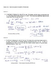 ENGG 201 W2011 Mass Balance Examples (Corrected)