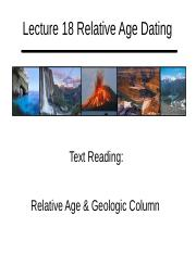Lecture 18 Relative Age Dating Handout.pptx